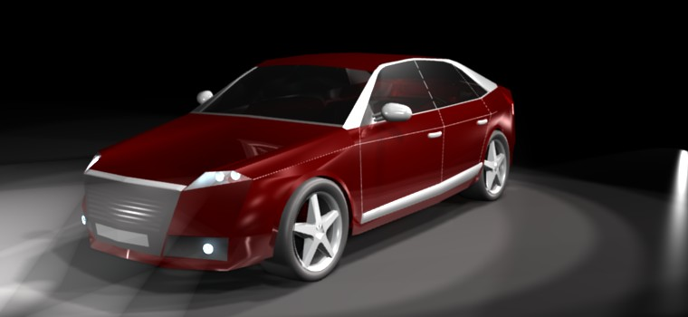 Animation of 3d car